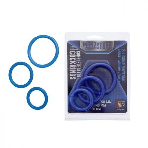 MENZSTUFF COMPLETE SET OF COCKRINGS BLUE